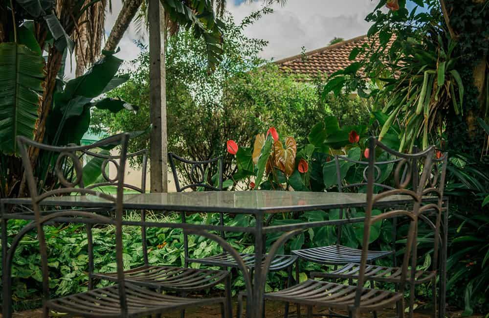 York Lodge Garden Sitting Area